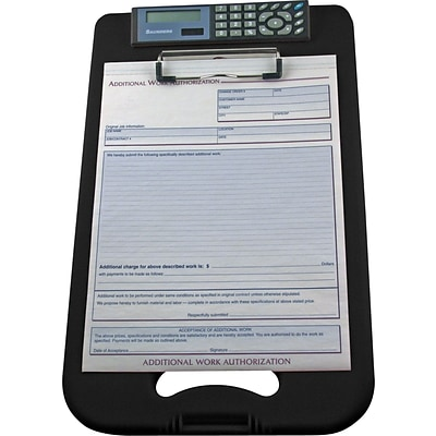 Saunders Polypropylene DeskMate II Storage Clipboard, Legal, Black, 8 1/2 x 12