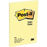 Post-it® 4 x 6 Canary Yellow Notes