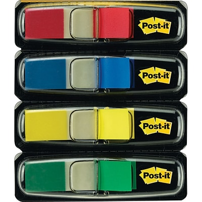Post-it®, 1/2 Flags, Assorted Primary Colors, 140 Flags/Pack (683-4)