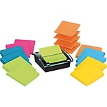 Post-it® Super Sticky Pop-up Notes, 3 x 3, 12 Marrakesh and Rio de Janeiro with FREE Dispenser
