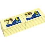 Post-it® Pop-Up Notes, 3 x 5, Canary Yellow, 12 Pads/Pack