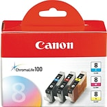 Canon® CLI-8 Color Inkjet Cartridges; Multi-pack (3 cart per pack)