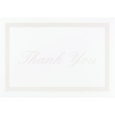 Great Papers® Pearl Border White Thank You Note Card with Envelopes, 50/Pack
