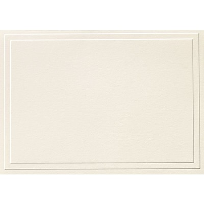 Great Papers® Triple Embossed Ivory Note Cards, 48/Pack