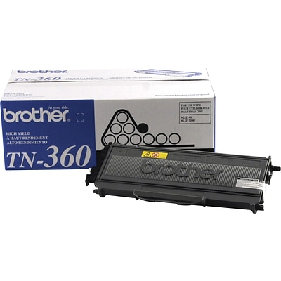 Brother Genuine TN360 Black High Yield Original Laser Toner Cartridge