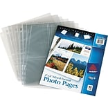 Photo Pages for Six 4 x 6 Mixed Format Photos, 3-Hole Punched, 10/Pack (PP4610)