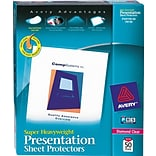Avery® Super Heavyweight Presentation Sheet Protectors; Diamond Clear, 50/Box