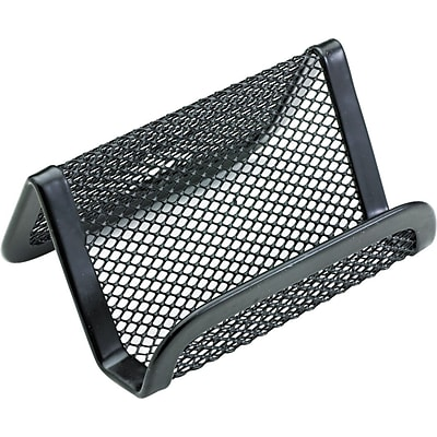 Mesh Business Card Holder; Capacity 50 2-1/4 x 4 Cards, Black