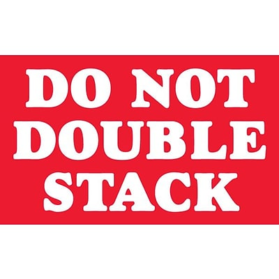 Staples® Do Not Double Stack Labels, Red/White, 5 x 3, 500/Rl