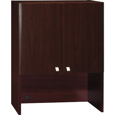 Bush Quantum™ Series 30 Storage Hutch, Harvest Cherry, 37 1/8H x 28 7/8W x 14D, Dock Delivery
