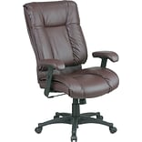 Office Star Burgundy Leather Swivel Chair