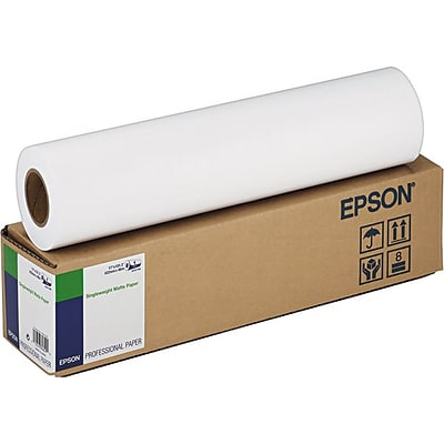 Epson® Singleweight Matte Paper, White, 17(W) x 131(L), 1/Roll