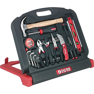 Great Neck® Professional-Quality Tools, 48-Piece Tool Kit, Black Plastic Case