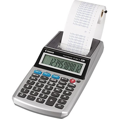 Canon P1-DHV-3 Handheld Printing Calculator, White