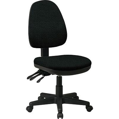 Office Star Custom Ergonomic Armless Chair Jet