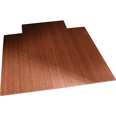 Anji Mountain Standard Bamboo Roll-Up Chairmat, With Lip, 36x48, Dark Cherry