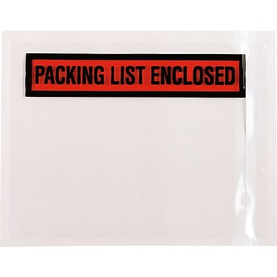 Packing List Enclosed Labels, 4 1/2 x 5 1/2, 100/Pack