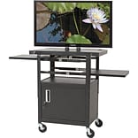 2-Shelf Height Adj. Flat Panel TV Cart
