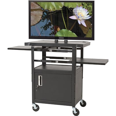 Balt® Flat Panel Adjustable TV Cart, 2-Shelf