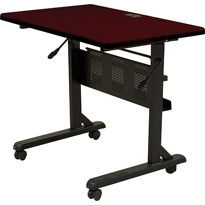 Balt 3 Laminate Flipper Training Table, Mahogany