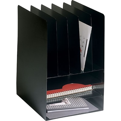 Steelmaster Lit-Ning™ Steel 5 Vertical Compartments Plus 3 horizontal Compartments, Black