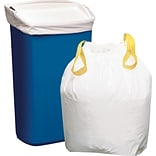Brighton Professional™  Value Size Trash Bags, Drawstring, White, 13 gallon, 120 Bags/Box