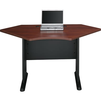 Bush Business Cubix 42W Corner Desk, Hansen Cherry/Galaxy