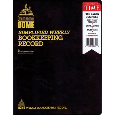 Dome Simple Weekly Bookkeeping Accounting Record (600)