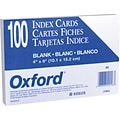 Oxford® Index Cards; 4 x 6, Blank, White, 2000/Pack