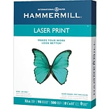 Hammermill Heavyweight Laser Copy Paper, 8-1/2 x 11, 98 Bright, 32 LB, 500 Sheets