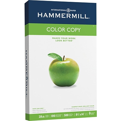 Hammermill Color Copy Legal Paper, 8-1/2 x 14, 100 Bright, 28 LB, 500 Sheets