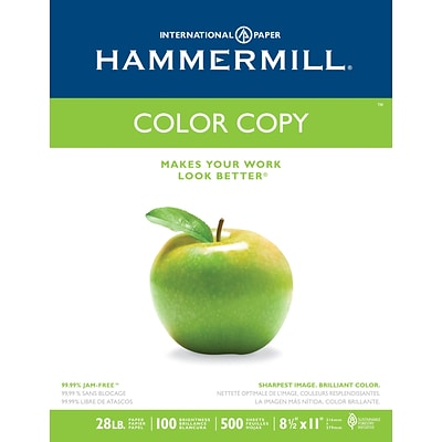 Hammermill Color Copy Paper, 8-1/2 x 11, 100 Bright, 28 LB, 500 Sheets