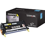 Lexmark Toner Cartridge, X560H2YG, High Yield, Yellow