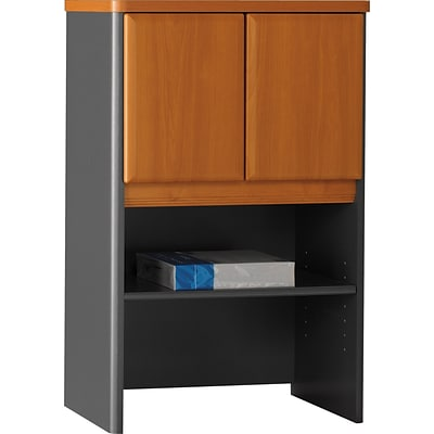 Bush Business Cubix 24W Hutch, Natural Cherry/Slate