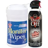 Falcon® Dust-Off® Duster & Electronic Wipe Combo