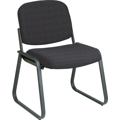 Office Star Custom Sled Base Armless Guest Chair, Graphite
