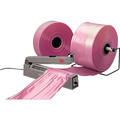 4 x 750 Antistatic Poly Tubing on a Roll, 4 mil, Pink, 1/Roll (12500)