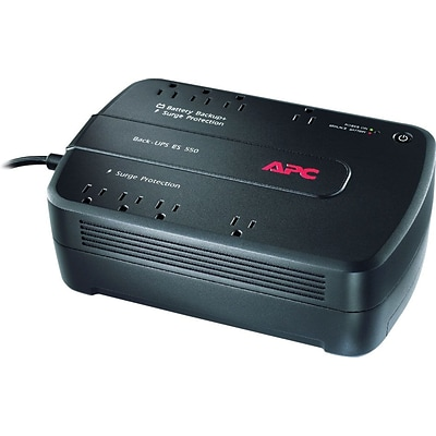 APC Back-UPS ES 550VA UPS, 8-Outlets, Black (BE550G)