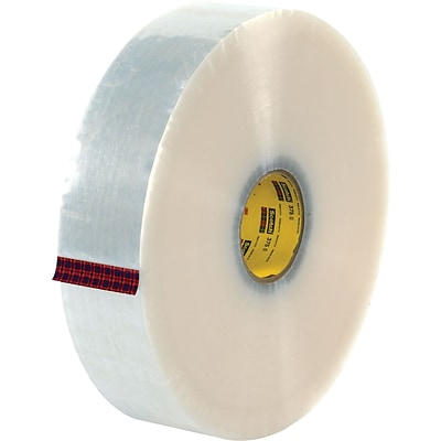 3M #371 Hot Melt Packing Tape, 2x1500 yds., 6/Pack