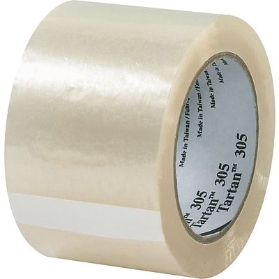 Scotch® #305 Acrylic Packaging Tape, 3x1000 yds. (T9033305)