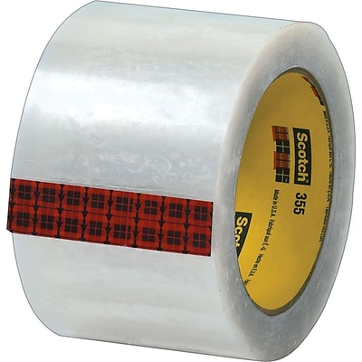 Scotch® #355 Hot Melt Packing Tape, 3x55 yds., Clear, 24/Case