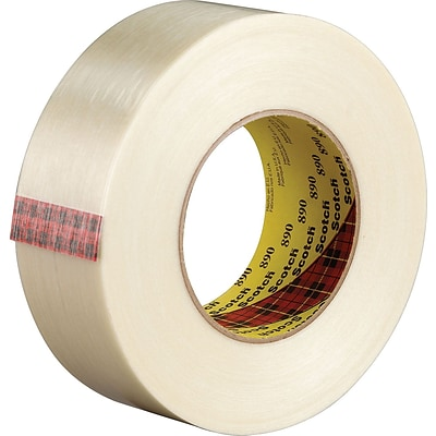 Scotch® #890 Filament Tape, Clear, 1/2 x 60 yds. (T913890)