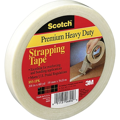 Scotch® #893 General Performance Filament Tape, 3/8x60 yds., 96/Case,