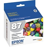 EPSON® 87 T087020 UltraChrome Hi-Gloss® 2 Gloss Optimizer Cartridges; Multi-pack (4 cart per pack)