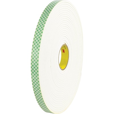 Scotch® #4032 Double Sided Polyurethane Foam Tape, 1x72 yds., 1/32, 9/Case