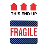 This Side Up Fragile Label, 4 x 6, 500/RL