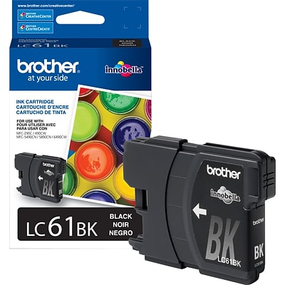 Brother LC 61 Black Ink Cartridge, Standard (LC61BKS)