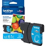 Brother LC 61 Cyan Ink Cartridge, Standard (LC61CS)