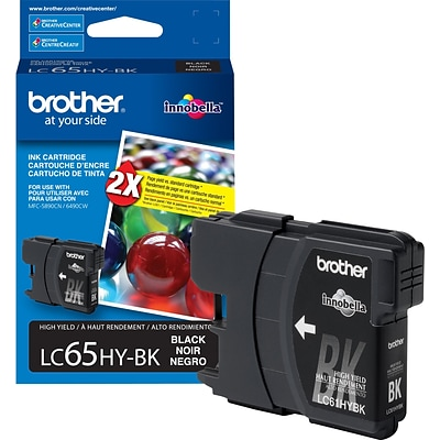 Brother Genuine LC65HYBK Black High Yield Original Ink Cartridge