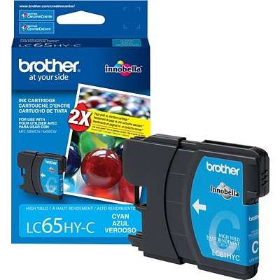 Brother Genuine LC65HYC Cyan High Yield Original Ink Cartridge